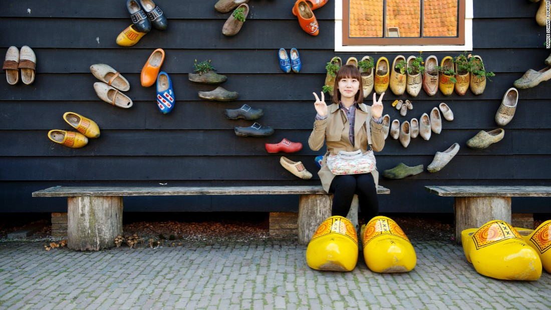 Windmills are not the only form of traditional industry; clogs are still produced and worn in Zaanse Schans.