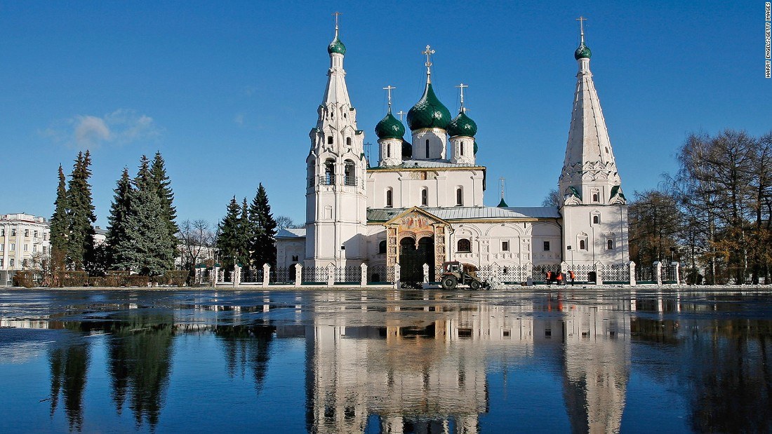 "Yaroslavl makes up one of eight towns that are part of Russia's original Golden Ring -- ancient towns significant in forming the Russian Orthodox Church. The Golden Ring features churches with ""onion"" domes."