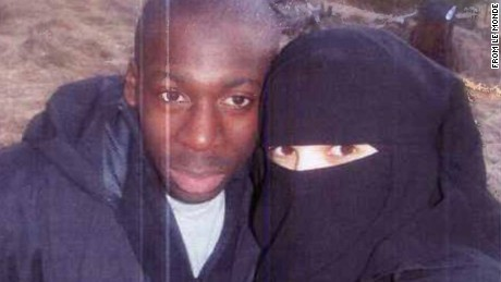 The French newspaper Le Monde says this is a 2010 photo of Hayat Boumeddiene and Amedy Coulibaby.