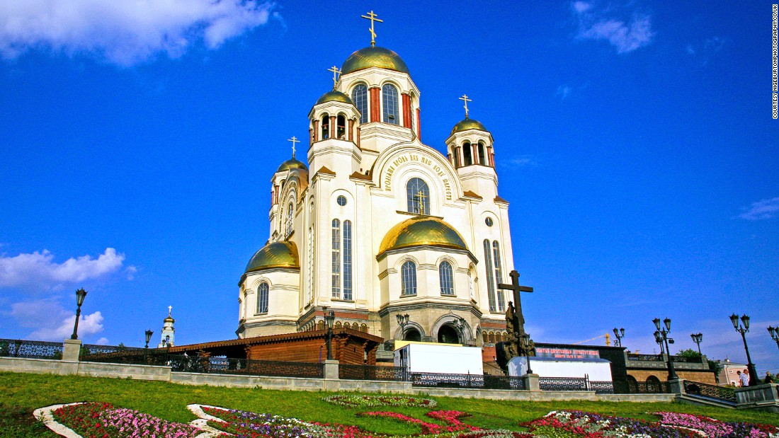 The Church of All Saints, or Church on the Blood, is built on the site of Ipatiev House, where Russia's last Tsar, Nicholas II, and his family were killed in the Russian Civil War.