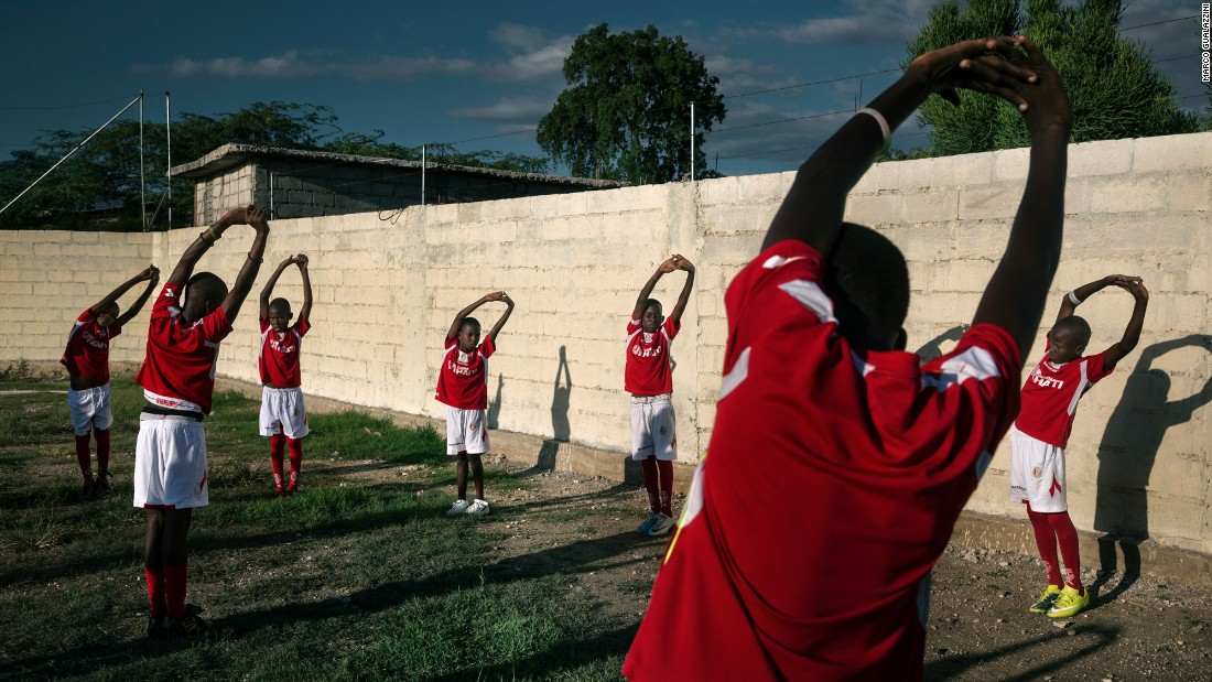 Sport is one of the areas in which Haiti is beginning to recover. In every neighborhood there are impromptu soccer and basketball games, Gualazzini said.