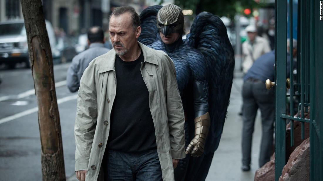 """Birdman,"" starring Michael Keaton, also won three other Oscars: best director, best cinematography and best original screenplay. The film, about a onetime superhero actor making a comeback bid through a Broadway play, was filled with unusual touches: It was filmed as if all one shot, scored with a jazzy-drum soundtrack and shaded with magical realism."