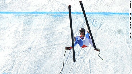 Switzerland's Daniel Albrecht crashes in front the finish area during the second official practice in men's downhill during FIS ski World cup in Kitzbuhel on January 22, 2009. AFP PHOTO / Samuel Kubani (Photo credit should read SAMUEL KUBANI/AFP/Getty Images)