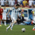 messi dribble argentina world cup 2014