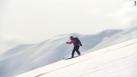 Snowcat skiing is the way to get down in Niseko.