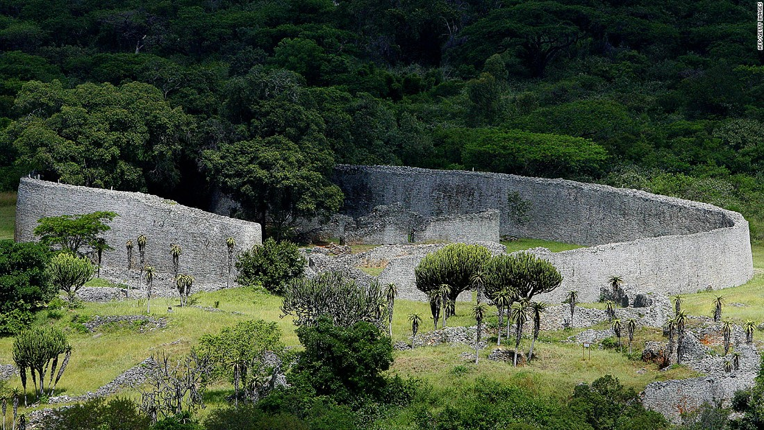 <strong>Great Zimbabwe, Zimbabwe:</strong> As the kingdom of Great Zimbabwe grew into a trading empire from the 11th century, a royal complex expanded creating a terraced palace. Today, massive walls and narrow passages -- usually deserted -- still stand on the hilltop at Great Zimbabwe.