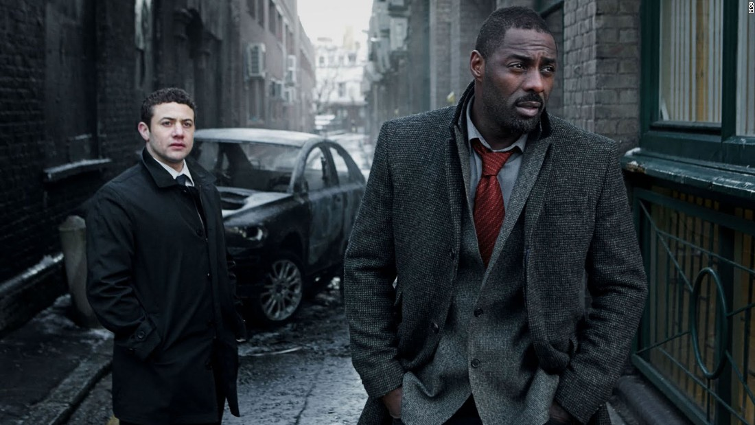 """Luther,"" starring Idris Elba (right) and Warren Brown."