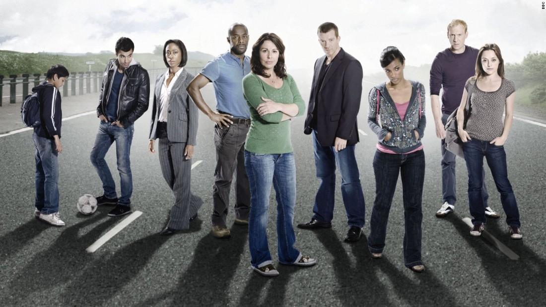 """Survivors,"" starring  (left to right) Chahak Patel, Phillip Rhys, Nikki Amuka- Bird, Paterson Joseph, Julie Graham, Max Beesley, Freema Agyeman, Shaun Dingwall and Zoe Tapper."