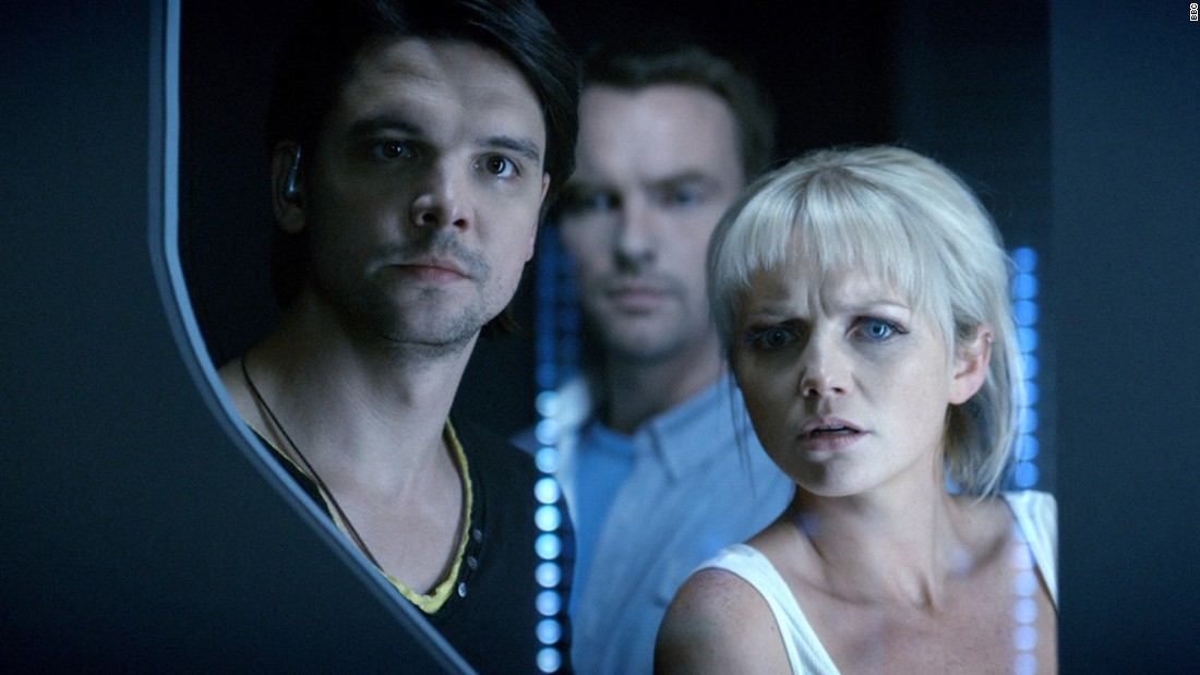 """Primeval,"" starring Andrew Lee Potts and Hannah Spearritt."