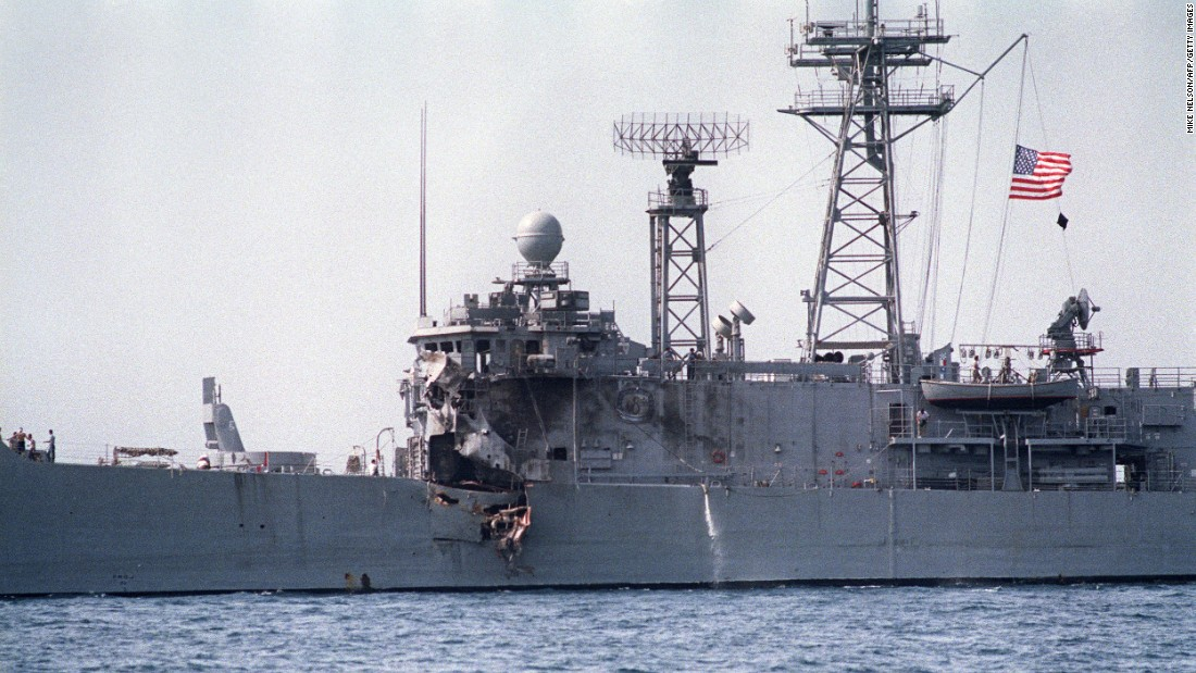 Another frigate of the Perry class, the USS Stark, was hit by two Exocet missiles fired from an Iraqi jet during the Iran-Iraq war on May 17, 1987, killing 37.