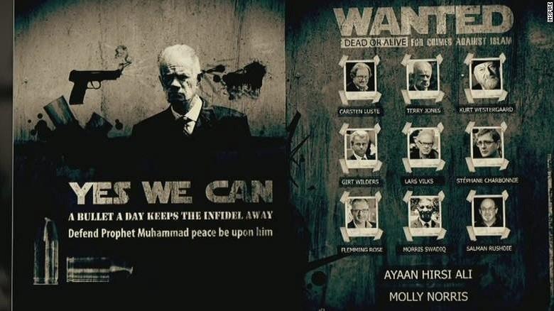 Cartoonist in hiding after death threats from al Qaeda