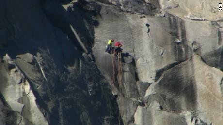 Climbers summit Yosemite's El Capitan via Dawn Wall