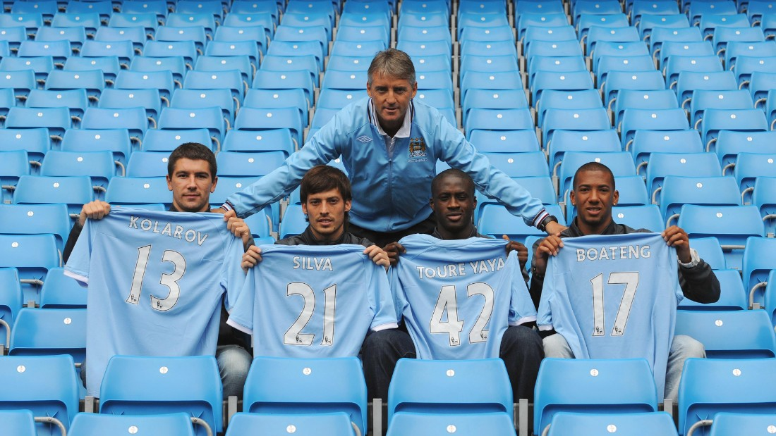 Image result for yaya toure signs for manchester city