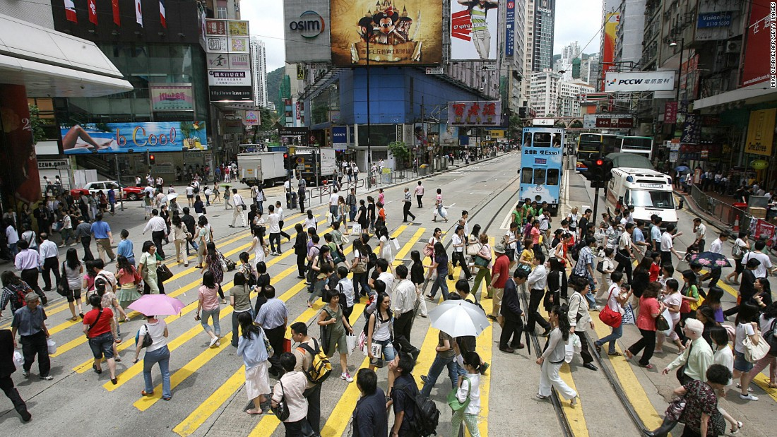 Last year's democracy protestors in Hong Kong were celebrated for their calm, friendly and safe demonstrations. Sunday shoppers can be a little more aggressive.