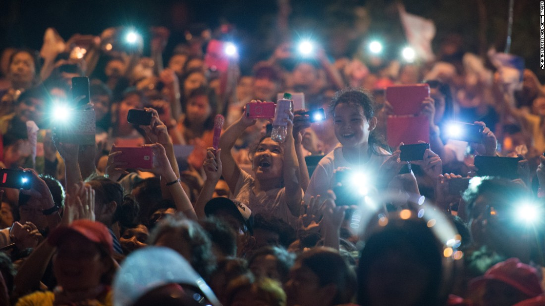 "Well-wishers use their cell phones to try to capture the arrival of Pope Francis in Manila. In the <a href=""http://www.cnn.com/2015/01/14/asia/philippines-pope-francis-visit/"">Philippines</a>, 80% of the population is Catholic."