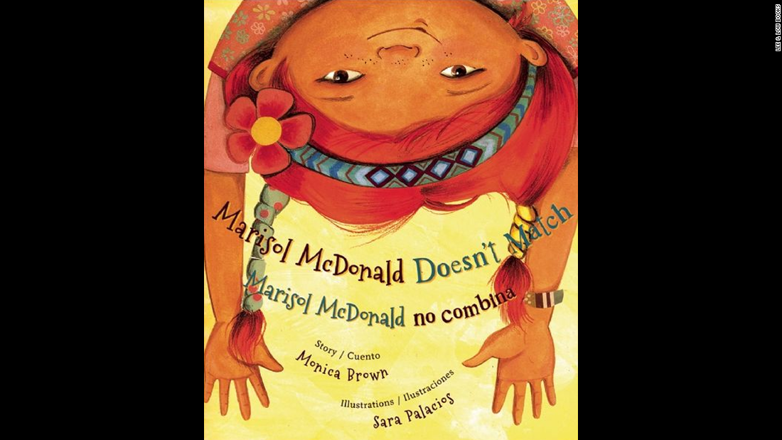 """Marisol McDonald Doesn't Match/Marisol McDonald no combina,"" written by Monica Brown and illustrated by Sara Palacios, tells the story of a girl with red hair and brown skin, a Peruvian-Scottish-American who is perfectly happy the way she is."