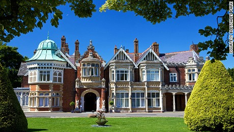 Bletchley Park, home of Britain's wartime code breaking operations.