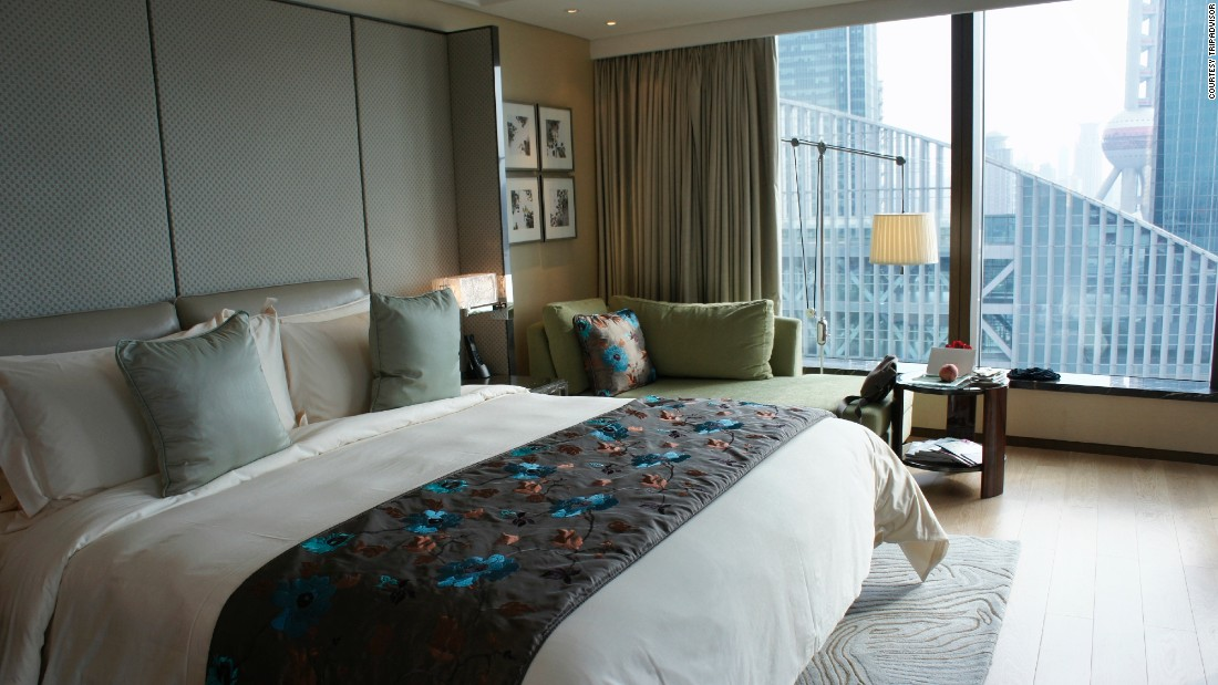 "The <a href=""http://www.mandarinoriental.com/shanghai/?kw=mandarin-oriental-pudong"" target=""_blank"">Mandarin Oriental Pudong</a> in Shanghai is located on the banks of the Huangpu River about 10 minutes from the historic Bund. Nightly rates for 2015 average about $400, with a dip to about $370 in July."