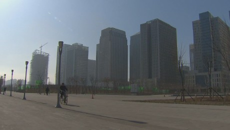 Tianjin, China: Lots of buildings, few people