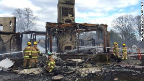 "Six people are unaccounted for after a fire destroyed a mansion in Annapolis, Maryland, early Monday morning, January 19, 2015, according to CNN affiliate WBAL. The house belongs to technology executive Don Pyle, the chief operating officer for ScienceLogic, said company spokesman Antonio Piraino. Pyle had not been heard from on Monday and his colleagues at ScienceLogic were ""hoping for a miracle, "" CNN affiliate WJLA reported. Pyle was believed to have been at home with his wife and four grandchildren. Fire officials said they were alerted about 3:30 a.m. Monday to the fire in the 16,000-square-foot house, WBAL said. About 80 firefighters responded."