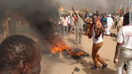 Protests over Hebdo cover