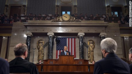 President Barack Obama delivers his State of the Union address to a joint session of Congress on Capitol Hill on Tuesday, Jan. 20, 2015, in Washington.