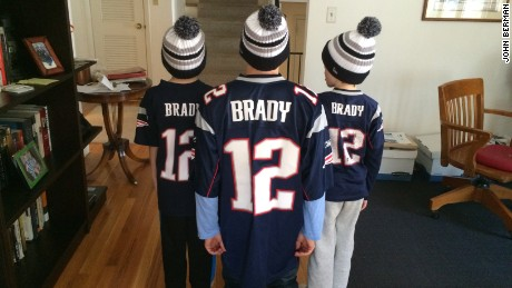 John Berman, with his twin sons, has been a lifelong New England Patriots fan.
