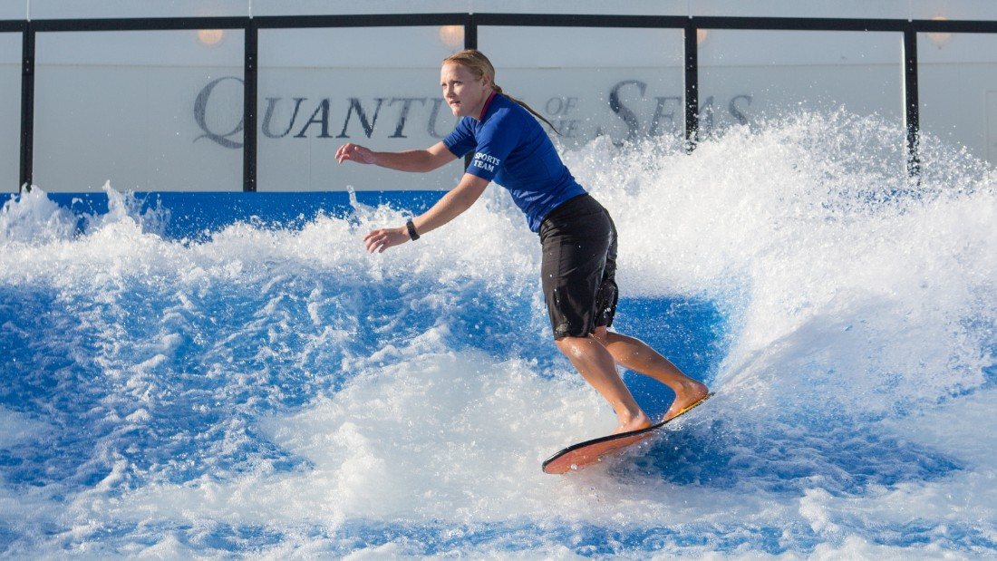 And for those with a more water-based interest, a surf simulator gives people the perfect opportunity to practice their skills in the waves.