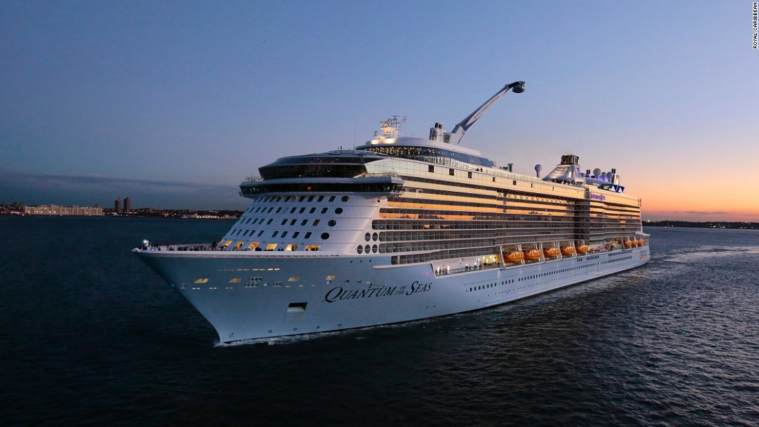 The cruise ship cost a whopping $1 billion to build, can take 4,500 passengers on board and has a top speed of 22 knots (41 km/h).