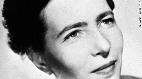 PARIS - UNDATED: Portrait of the french writer Simone de Beauvoir. A companion of John Paul Sartre. (Photo by: AFP/Getty Images)