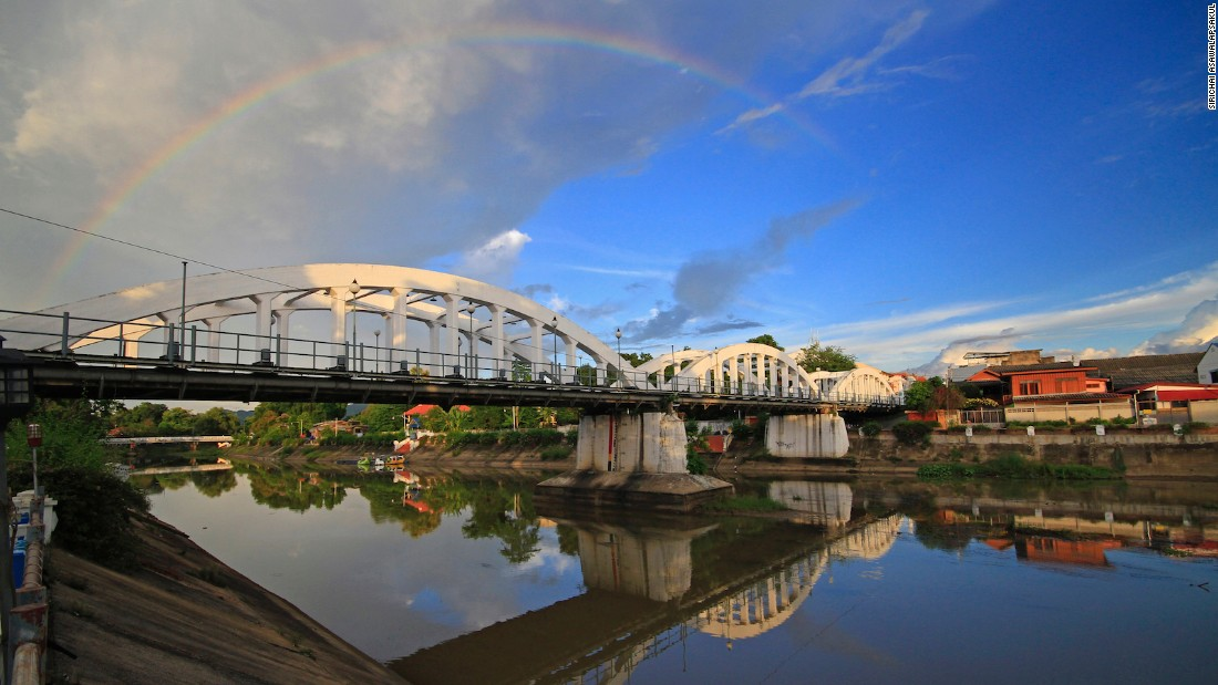"Lampang's Ratsadaphisek Bridge -- often referred to simply as Saphan Khao, or ""White Bridge"" -- was named in honor of the 40th anniversary of King Rama V's reign. It crosses the city's Wang River."