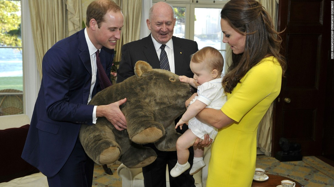 Prince George received a huge number of gifts during his tour of Australia and New Zealand with his parents, the Duke and Duchess of Cambridge, last year. The Australian Governor-General, Peter Cosgrove, gave the toddler a toy wombat bigger than the child.