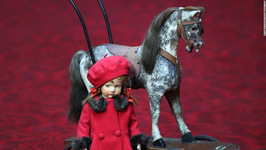 Her Majesty's love of thoroughbreds is well-known and last year she received everything from a mounted sculpture of a white horse from France's President Francois Hollande, to a dressage crop from the governor-general of Canada, David Johnston. Here, a doll and toy horse belonging to the Queen as a child were displayed at Buckingham Palace in an exhibition earlier in the year.