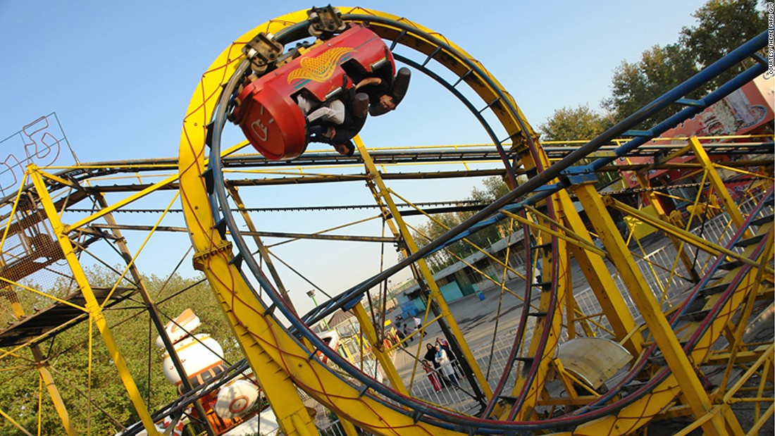 Not only are you sitting in a soda can-shaped car, the ride plays fast and loose with physics by flinging you in such tight loops you can almost see the back of you own head, says Theme Park Guy, Stefan Zwanzger.