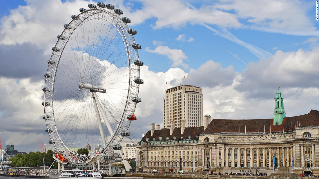 The London Eye's enclosed capsules are a gentle and scenic way to see the city.