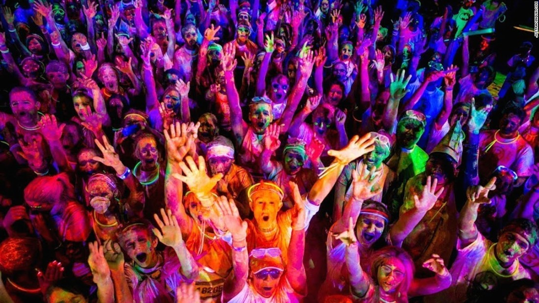 Participants in these psychedelic 5K night races are covered in neon glow powder, which is illuminated by black lights spread across the routes. The runs are held in various U.S. cities.