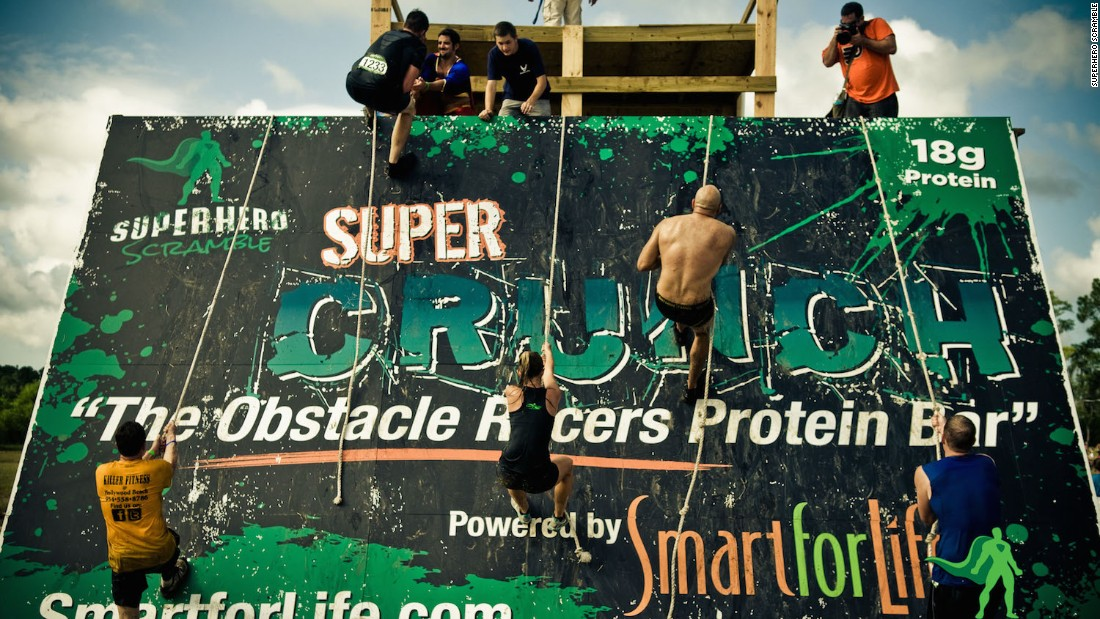 In these races held across the United States, participants tackle 6.5-, 13- or 21-kilometer courses filled with obstacles such as slime, nets and water.