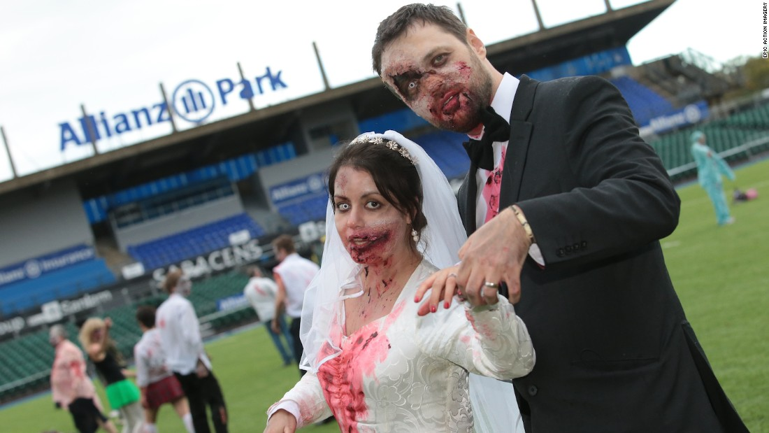 Would knowing this pair is chasing you down improve your race time? That's the premise of Zombie Evacuation races, which take place throughout the UK.