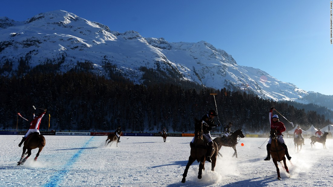 Since 1985, St Moritz has hosted an annual snow polo tournament beneath the Swiss peaks.