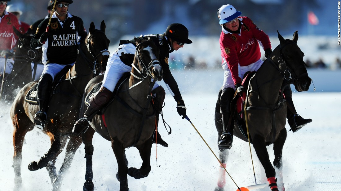 A rival to the St Moritz event has emerged in China, where a World Cup of snow polo is held in Tianjin.