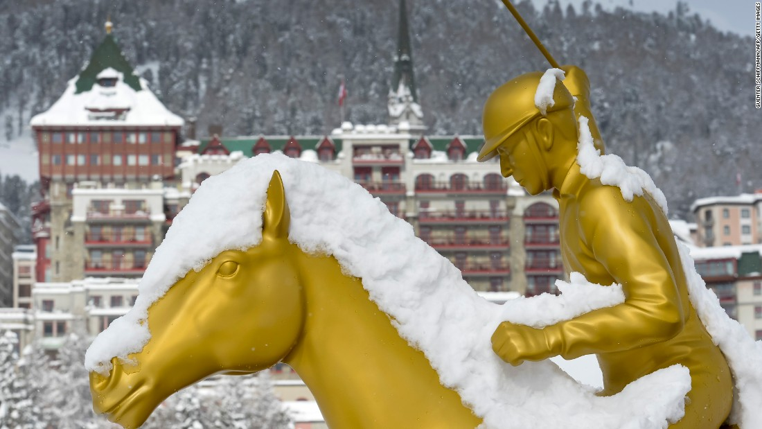 "St Moritz has a long history of horse sport on snow, including the ""White Turf"" series of races held each February."