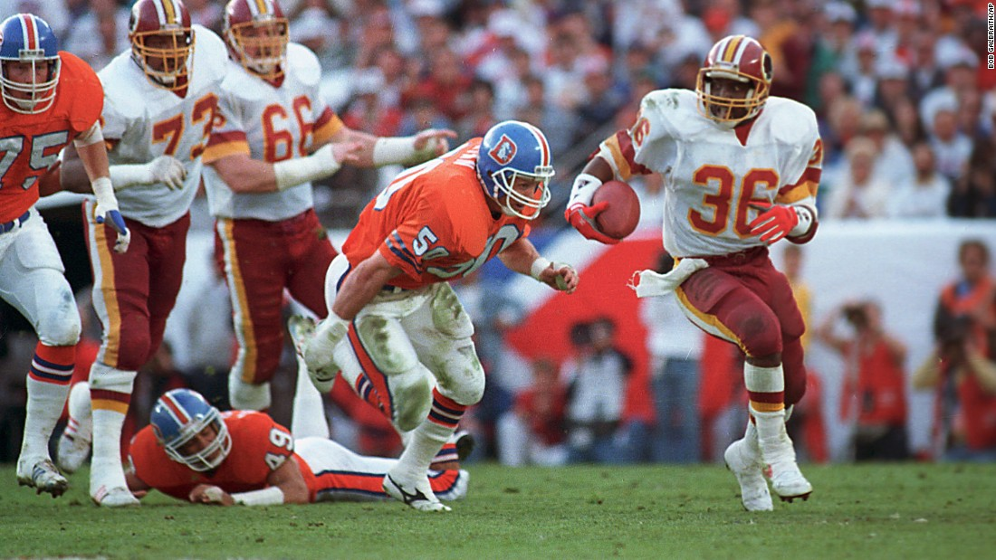 Washington quarterback Doug Williams won the Super Bowl MVP award in 1988, but rookie running back Timmy Smith set a Super Bowl record that year with 204 rushing yards against Denver.
