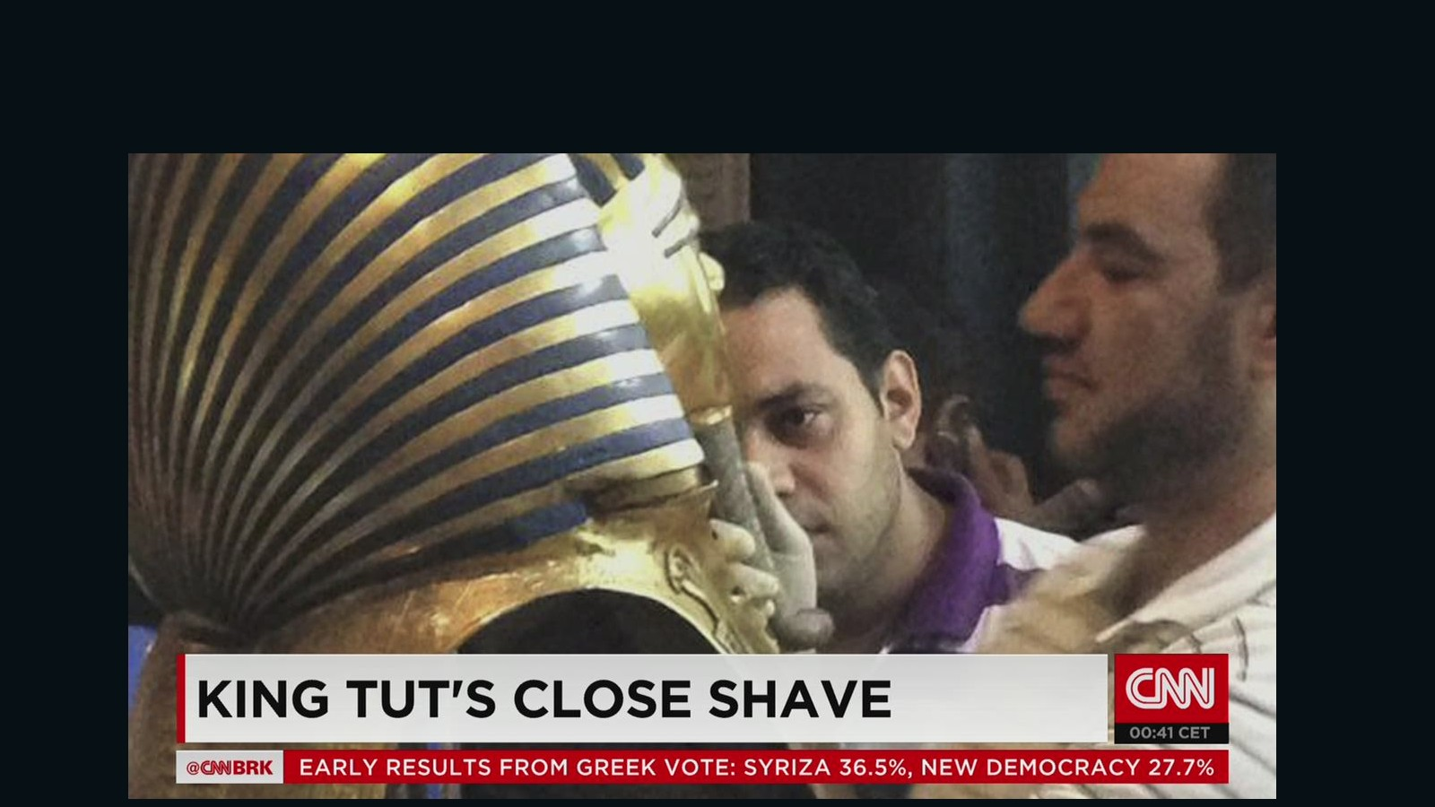 king tut eight accused of botching pharaoh s beard job com