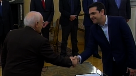 Alexis Tsipras was sworn in as Greek prime minister