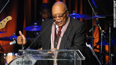 HOLLYWOOD, CA - NOVEMBER 19:  Record producer Quincy Jones attends the 2014 Ebony Power 100 List event at Avalon on November 19, 2014 in Hollywood, California.  (Photo by Angela Weiss/Getty Images)