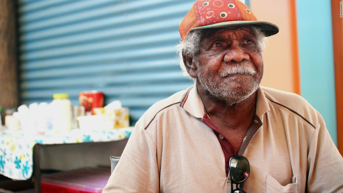 Senior Wik elder Linsey Koowarta. Indigenous people of Australia have a rich cultural history tied to the land and legends.