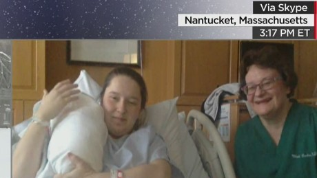 Baby boy born during Nantucket blizzard