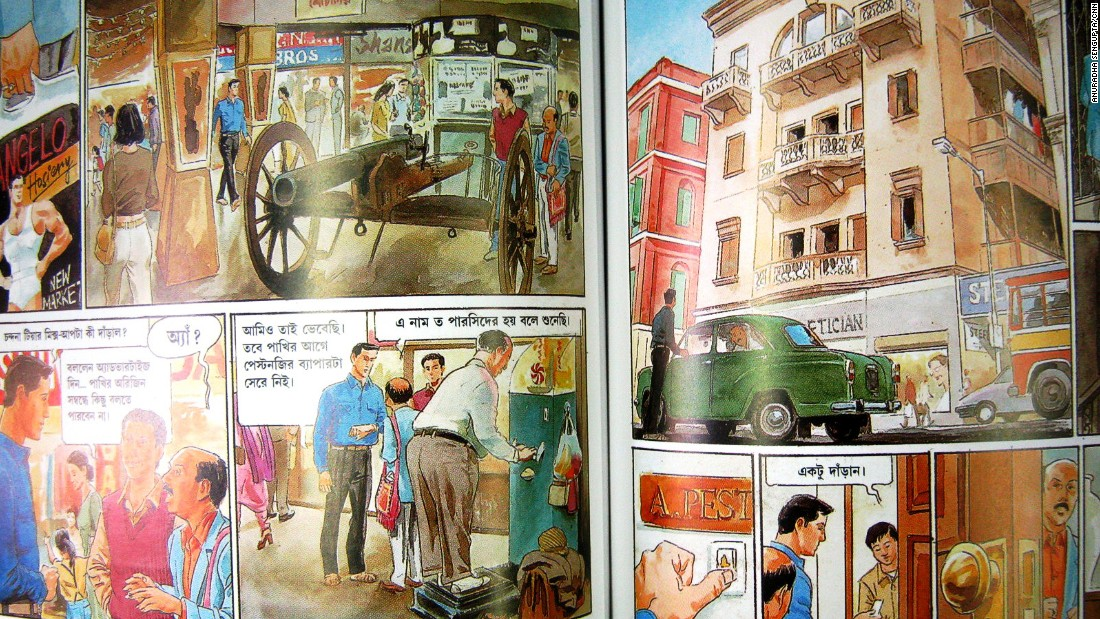 At Ananda, you can pick up books on Shantiniketan's famous alpona art and Bengali comic books with panels in gorgeous watercolor featuring Feluda, filmmaker Satyajit Ray's iconic sleuth.
