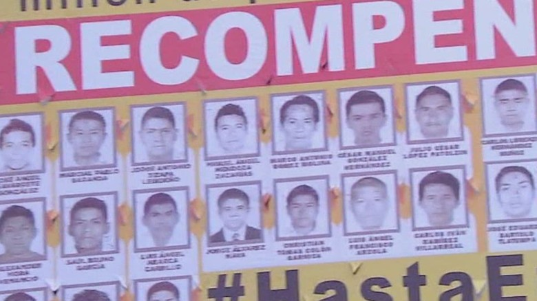 January 2015: Mexico declares missing students murdered