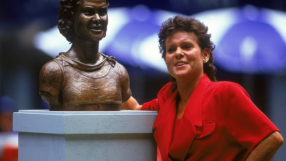 She remains an iconic figure at the Australian Open each year where a bronze statue of her was unveiled in 1994.